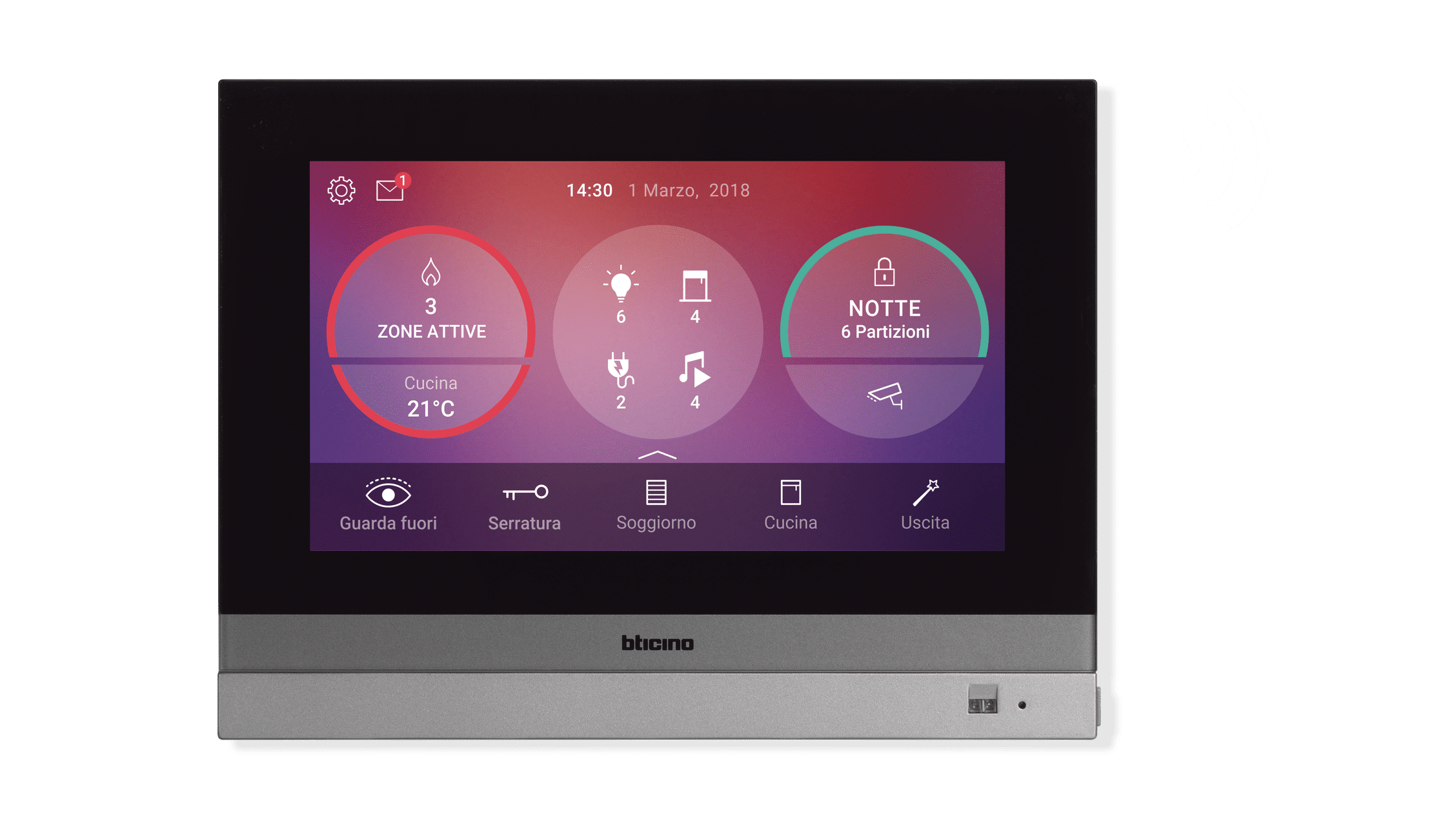 Display touch domotica