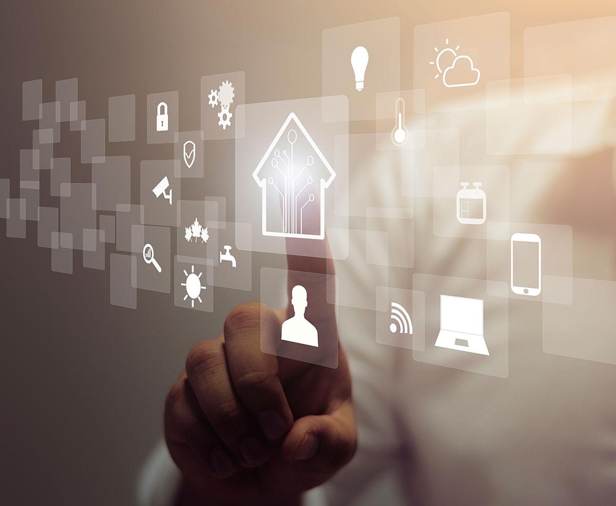 Gestire funzioni e dispositivi smart home tramite app