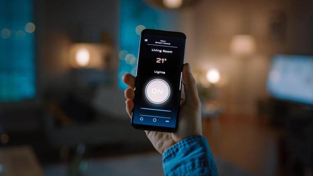 accendere luci da smartphone